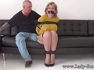Mature chick, Dame Sonia was life up, while her colleague was gripping her meaty milk cans