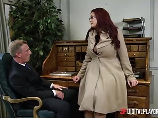Alessandra Jane and Emma are having a 3some in their office, a substitute alternatively of doing their job