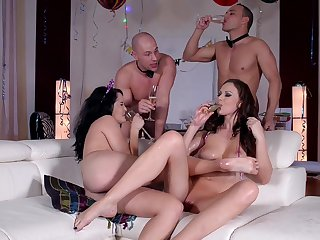 Sinful party leads the horny wives to insane sex