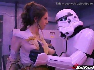 Stella Cox got her cooch plumbed to Starlet Wars porno parody