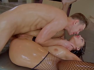 A hot bitch is getting fucked in her hot round nuisance really hard