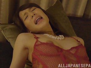 Glamorous brunette Japanese MILF Suzumura Airi pounded in lingerie