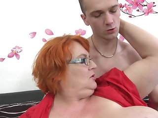 Granny SSBBW fucked by young young man
