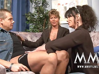 MMV Films Matured teacher having fun surrounding a couple