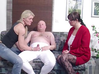 German Husband Get Foremost Threesome by Wife and their way Friend