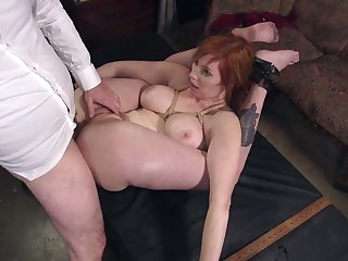 Super ductile busty bondage hooker Lauren Phillips is fucked moderately corrupt