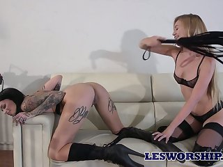 Two killing hot lesbians enjoy making out each others wet and sex-starved cunts