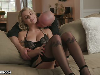 Young blonde with full on the up soul Gabbie Drayman goes wild on a hard dick