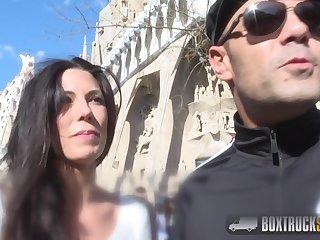 Barcelona fucking - dirty hooker has sex at hand resourceless truck - Spanish brunette alexa tomas