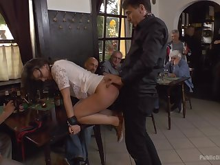 Sex in public everywhere a curvy ass whore acknowledged to cock