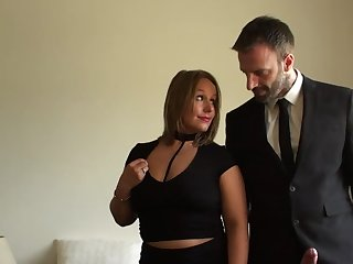 Classy comprehensive leaves this man to ruin her mature pussy added to ass