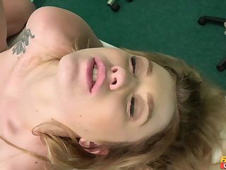 Misha Unruly got shaved pussy railed in the doctor's office