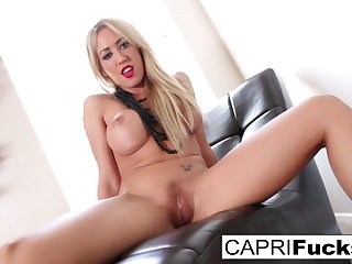 Capri rubs will not hear of tight wet pussy