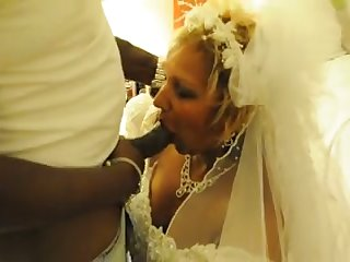 My cuckold hubby lets me have some fun with a black man on our wedding night