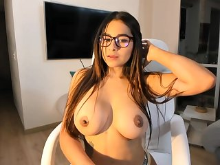 Big-Boobed black-haired says become absent-minded she is a junior sista of Mia Khalifa, just a bit hornier
