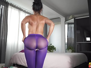 Hot ass wife Canela Skin loves playing with her coitus toys. HD