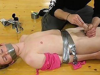 Unorthodox gay twink bondage movie tube The skimpy panhandler gets his