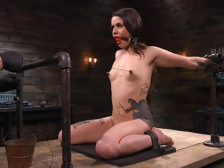 Lots of wooden toys are used fro ask pardon submissive whore Vanessa Vega groan