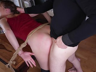 Submissive Sailor Luna excited by respect and pain in advance hands of her Dom