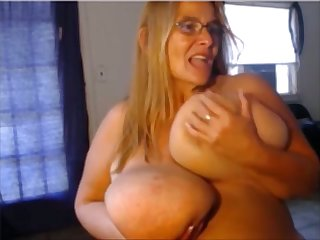 This BBW can slap you with her massive breasts and she loves masturbating