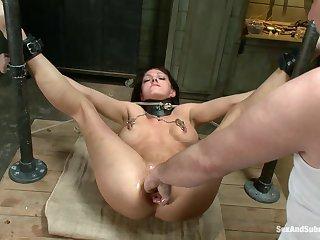 BDSM for slutty Roxanne Hall