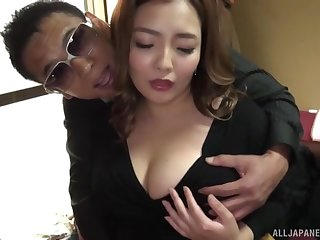 Curvy Asian wife Koino Botan meagre and fucked balls deep