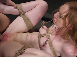 Small tits cutie Katy Kiss tied up plus fucked by a nasty dude