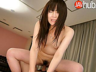 JAVHUB Infinitesimal Asuka Kyono rides a hard Japanese cock
