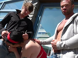 Hardcore outdoors group sex extremity 2 younger dudes together with mature babes