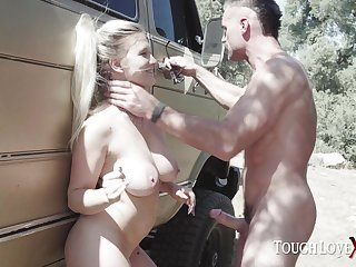 Hide coupled with fuck with busty blonde Emily Right