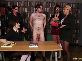 Amateur man gets his bushwa pleasured by kinky Unalike Stacey