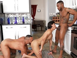 Black dudes ass fuck twink in home threesome gay XXX