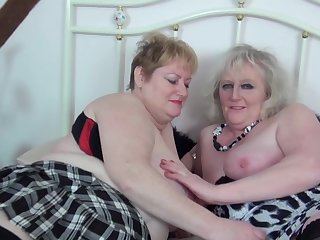 Lesbos in action wearing stockings - Claire Manful & Fiona Manful